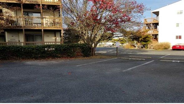 Parking Lot After Shore Grounds Maintenance